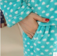 Ms long sleeve winter cotton flannel kt cat thickening leisurewear suit sets round collar pants pajama