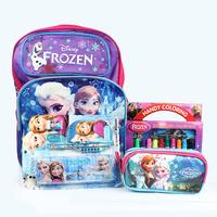 Children School Bags Frozen Backpack Pencil Case Stationary Set Water Color Pen Super Special Four Pcs Set Kids Christmas Gift