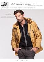 2014 wholesale Hot sale Warm coats men leisure parkas  Men's down jacket High quality fashion men's down & parkas Free shipping