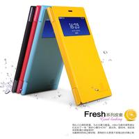 Original Nillkin Fresh Flip Case For 5.0 inch Xiaomi M3 MI3 Mi 3 Phone Window Holster High Quality Multi Color