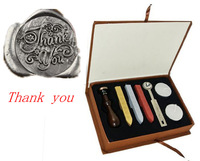 """Vintage Romantic Words """" Thank You """" Retro Lover Gift Wax Seal Stamp Kit Set Wedding Party Label Note DIY Cool"""