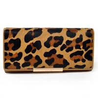 Yellow leopard print horse hair orange series women wallets coin purses party clutches Gaofan brand  GF413106