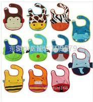 free shipping 11pcs/lot Hot kids Saliva Towel Waterproof Lunch bibs Baby Bibs Infants Cartoon Pattern Bibs