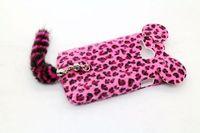 3D Leopard Fur Tige Tail Case Cover For Alcatel One Touch M'Pop 5020 5020D OT-5020
