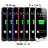 """2014 NEW HOT 3800Mah External Power Pack For iPhone 6 4.7"""" Extra Battery Case 8 Colors Available Free Shipping Drop Shipping"""