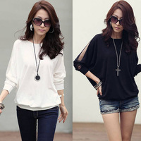 PopularWomen Casual Loose Batwing Sleeve Lace Sexy T-Shirt Blouse Tops Tonsee