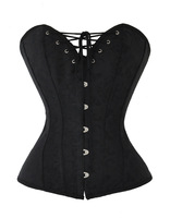 new sexy plastic boning lace up back corset top bustier 008