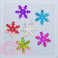 2000pcs/lot 14mm multicolor 6 color Plastic Christmas Snowflake for Christmas Tree /Window/Showcase Decoration
