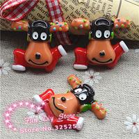 resin reindeer lights for decoration flat back cabochon crafts 29*31mm 50pcs/lot free shipping
