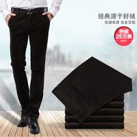 Autumn/winter 2014 new gold velvet men's soild casual pants straight leg waist crease wash-men's pants