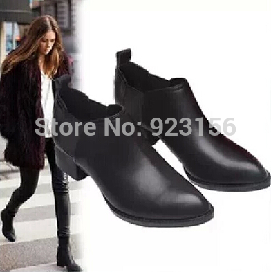 Black Low Heel Boots