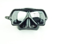 swimming goggle tempered glass anti-impact glass silicone diving mask M-223