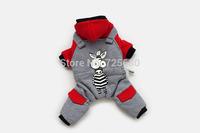 High Quality Fashion Dog Pet Clothes Dog Snowsuit Jumpsuit Warm Winter --Cute Zebra