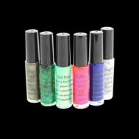 Fashion 6 colors nail polish for nail art decoration liner