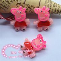 resin Peppa Pig Party Resin Cabochon Flatbacks Scrapbooking 50pcs/lot 26*20mm