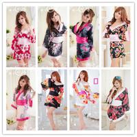 New Arrival Ladies Elegant Japanese Pajamas Kimono Sexy Lingerie Sleepwear Temptation Female Classical Trendy Nightgown 22016