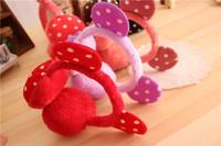 2Pieces/Lot  Free Shipping Cute  Women  Winter Ear Warmers GilrsFleece Earmuffs