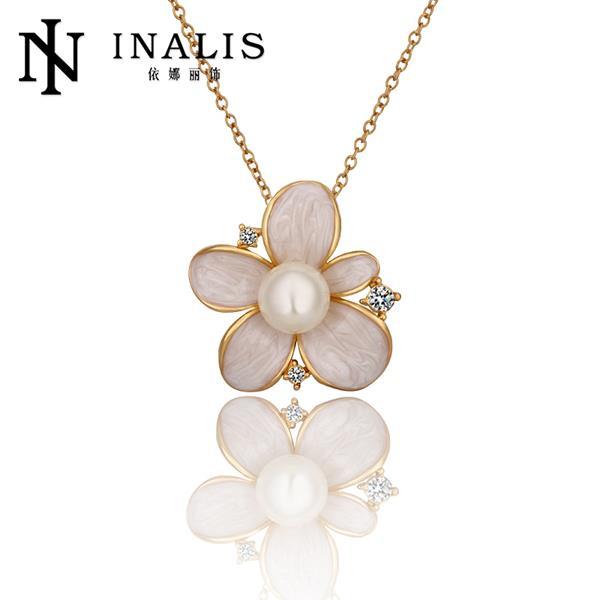 QYX Fashion Jewlery 2015 Nice 18K Gold Plated Necklace Pendants New Fashion Jewelry For Women Free