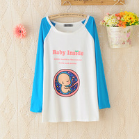 Free Shipping Im Pregnant Baby inside two color long-sleeved short-sleeved t-shirt tee for  mothers mother-to-be pregnant women