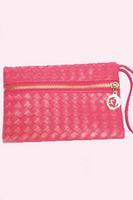 woman clutch bags  2014 PU Material Clutch Bags SStylish Braid Texture Lady Handbag LC74031