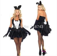 Fashion halloween Christmas dovetail rabbit lady costume