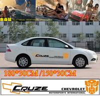 2PCS Car styling Waterproof Change color car sticker for car Door graffiti stickers Cartoon body Decals 180*30CM/150*30CM