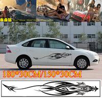 2PCS Car styling Waterproof Change color car sticker for car Door graffiti stickers Cartoon body Decals 180*30CM/150*30CM YB-212