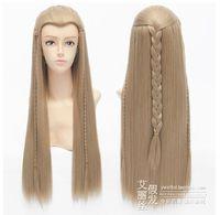 Hobbit Legolas Long Anime Cosplay Wig Natural Kanekalon no Lace Front hair wigs Free deliver