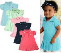 Free Shipping 100% cotton baby dresses children girls dresses baby kids casual dress girls dres girl Tennis short skirt dress