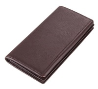 8061C  long large capacity wallet 100% geuine leather coffee color for gentle man