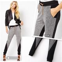 New Fashion Autumn WInter POP Women Boyfriend Elastic Waist Harem Jogger Slim Long Pants Trousers Pants Plus Size AY657249