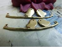9pcs 11*44mm bromze lover bird antique charms bracelet necklace pendants diy decoration cabochon jewelry findings accessories