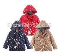 2014 new winter children clothing  small triangle zipper coat