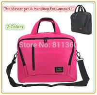 "Fashion Messenger Handbag For Laptop 14"",14.1 inch"",Protecter Notebook Nylon Bag,2 Colors, Wholesales Free Drop Shipping 5089 ."