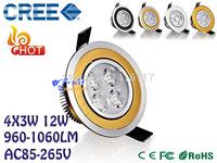 1pcs/lot 34X3W 12W Ceiling downlight CREE LED ceiling lamp Recessed Spot light 85-265V 110V 220V for home illumination