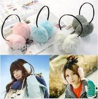 A011 Korean cute fluffy wild hair hoop earcap girls favorite winter warm earmuffs / earmuffs Earwarmers