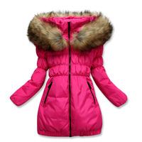 2014 winter child down coat child coat medium-long female child