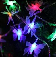 10M 50 SMD 3D Butterfly RGB LED String Lights Waterproof 110V/220V US/EU/AU/UK Plug Party CHRISTMAS,WEDDING,BEDROOM Lighting
