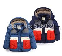 New 2014 winter child jacket thicker warm boy parkas kids coat winter outwear