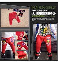 Goatswool sugarman ducks three-dimensional baseball cap trousers male child casual pants