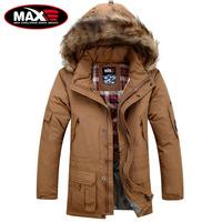 S-6XL plus size winter large fur collar men's medium-long thickening hooded down jacket brand fashion man parkas coat outerwear