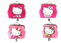 new Free Shipping 4PCS/LOT HELLO KITTY Hasp zero wallet,VERY NICE,best gift to kids