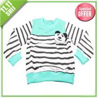 11.11 big sale 2013 new autumn long sleeve peppa pig blue/gray/yellow/red/green cartoon kids t shirt children clothing
