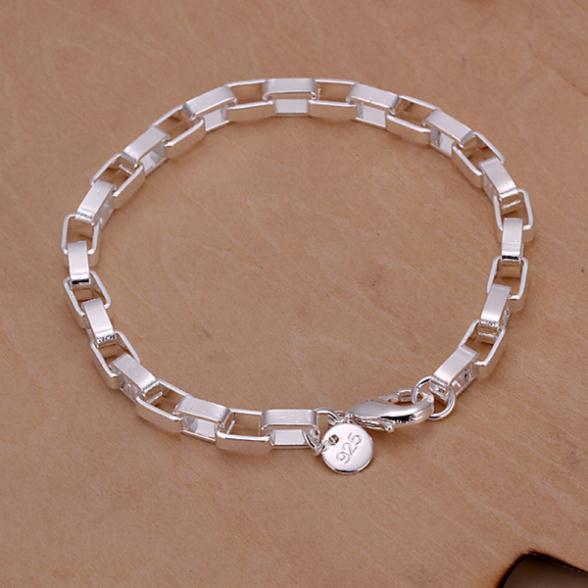 925 Sterling Silver Jewelry Women Chain Bracelets Bangles Christmas Gift men's Bracelet pulseras de plata femme SZ3524(China (Mainland))
