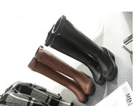 free hongkong post~fast~j950 2 color knee belt ridding chunky heels boots