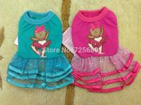 CUTE Ballet Bear LACE DRESS Small Pet Dog Cat Clothes dress size XS S M L