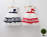 2014 new girls summer dresses baby dresses Princess girl flower princess dress children's lace ruffles' dress kids clothes