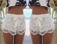 2015 Free shipping Geometric Lace fine fashion with casual short FASHION Milla Crochet Lace Shorts Waist Beach Shorts A379-90
