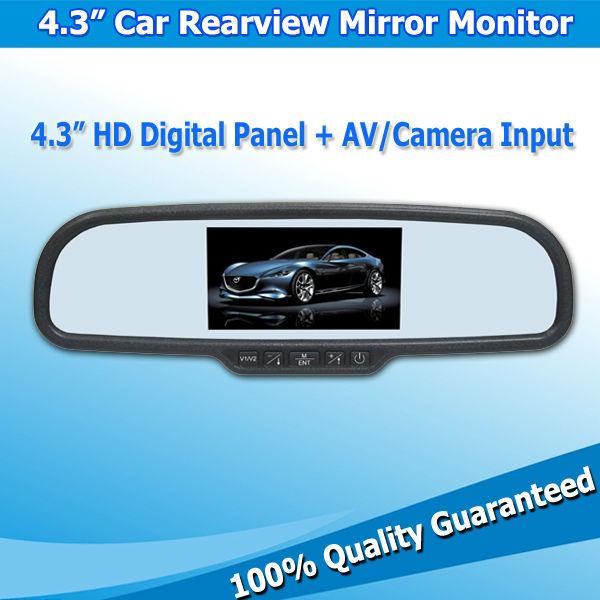 """4.3"""" Global TFT LCD Rearview Mirror Monitor Car Rear Monitors Hot Selling(China (Mainland))"""