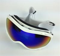 New designed Hot Ski Eyewear Ski Glasses White frame color lens Snowboard Goggles Men Women Snow Glasses Fashion skiing eyewear